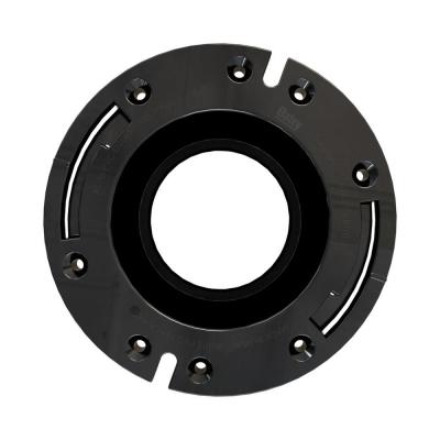 Fast Set 3 in. Outside Fit 4 in. Inside Fit ABS Open Hub Toilet Flange with Plastic Ring