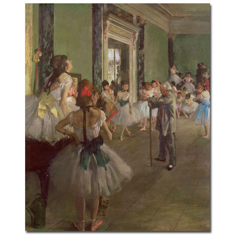 Trademark Fine Art 18 in. x 24 in. The Dancing Class, 1873 Canvas Art