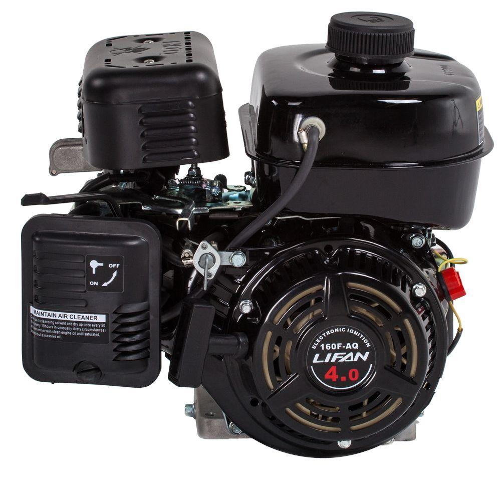lifan 4 hp 118cc horizontal shaft gas engine lf160f aq. Black Bedroom Furniture Sets. Home Design Ideas