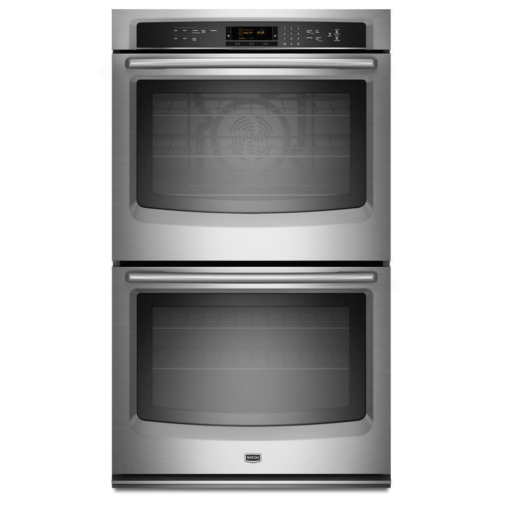 Maytag 30 in. Double Electric Wall Oven Self-Cleaning with Convection in Stainless Steel