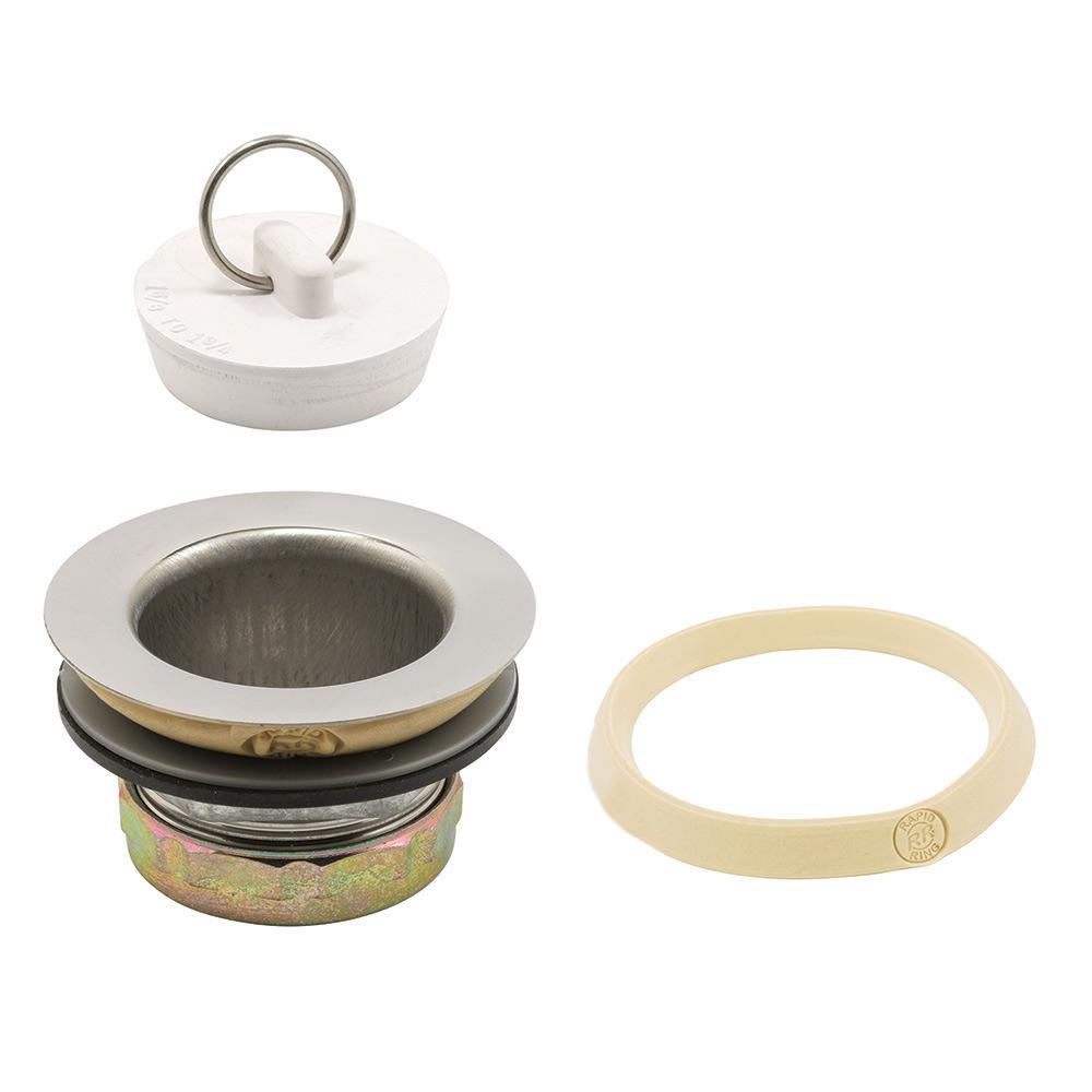 Rubber Stoppers Home Depot : Prime line basket strainer with rubber stopper in