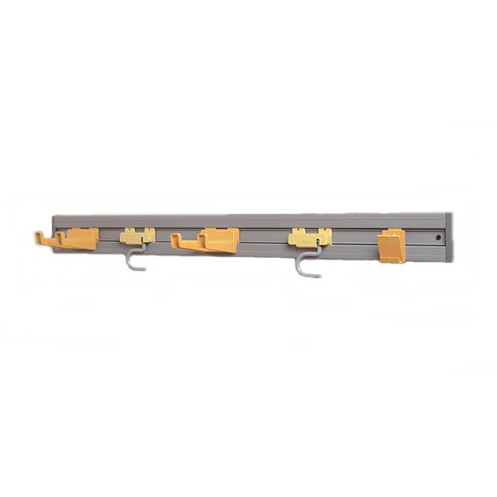 Rubbermaid Commercial Products 4.25 in. H x 3.25 in. W x 34 in. D Closet Organizer/Tool Holder Kit