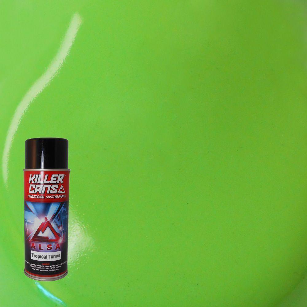 12 oz. Tropical Tones Lime Green Killer Cans Spray Paint