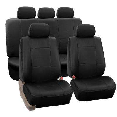 Premium PU Leather 47 in. x 23 in. x 1 in. Full Set Seat Covers