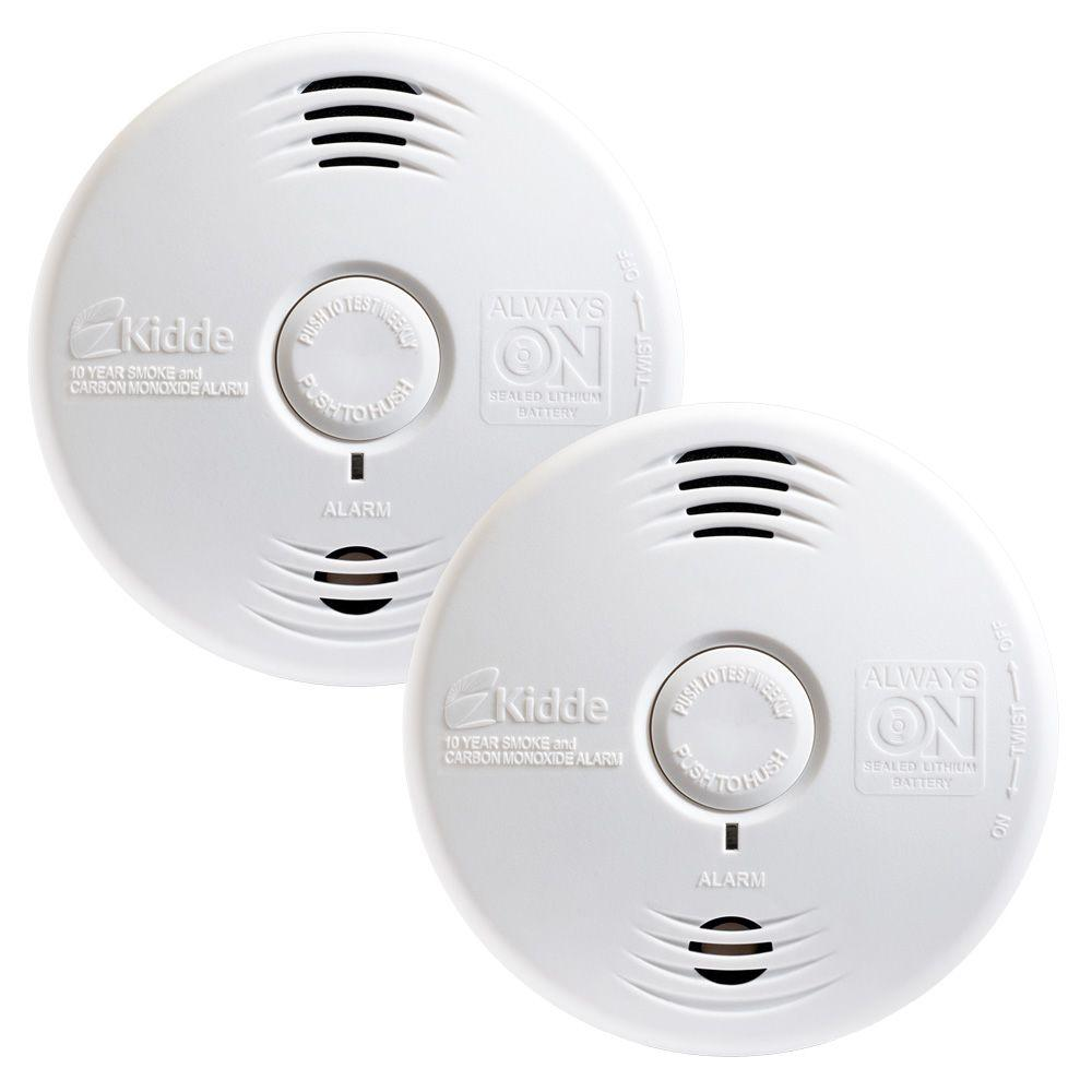 Twin Pack Worry Free 10 Year Photoelectric Alarm with Voice