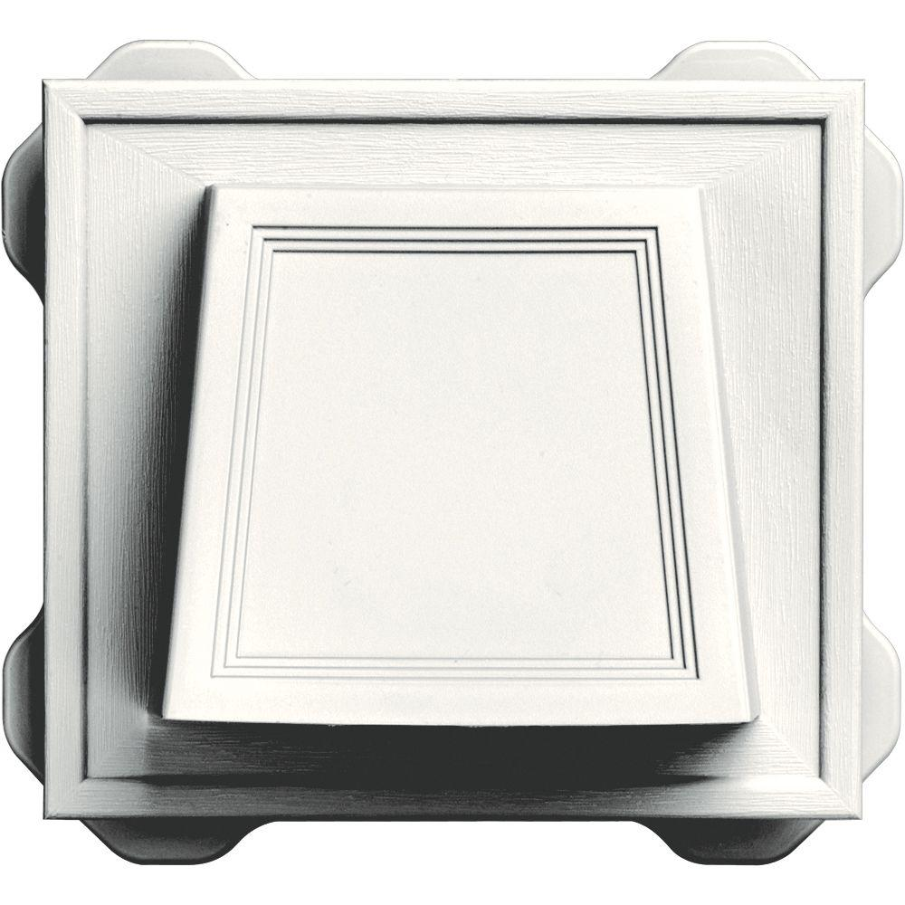 Builders Edge 4 In. Hooded Siding Vent in White