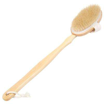 Exfoliating Natural Bristle Long Handled Back and Body Brush