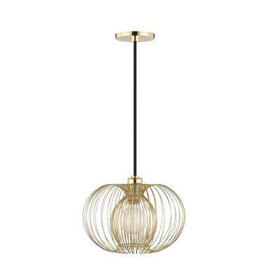 Jasmine 1-Light Polished Brass Small Pendant