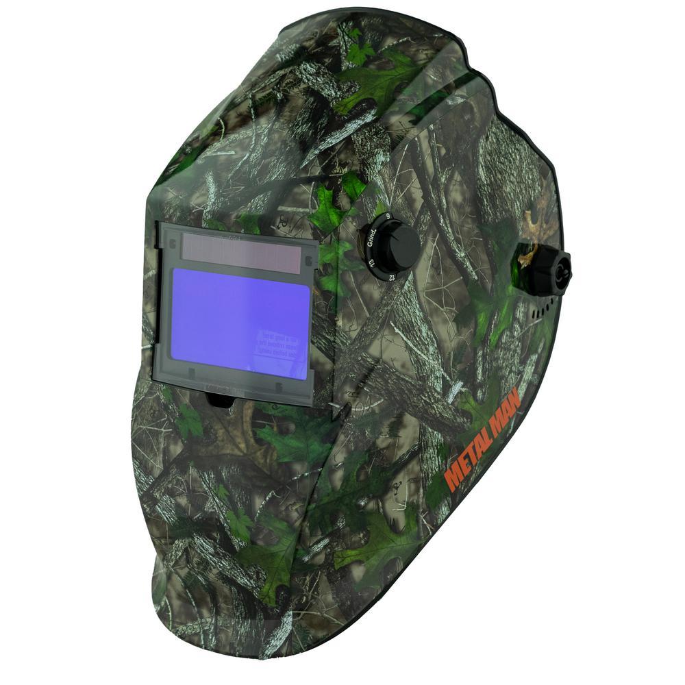 Camoflauge 9 to 13 Shade Auto Darkening Welding Helmet with 3.78 in. x 2.05 in. Viewing Area