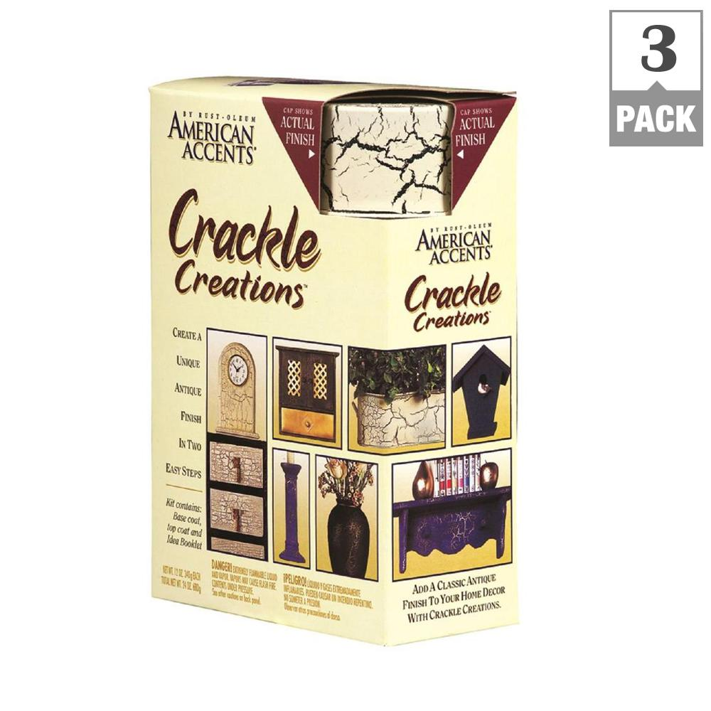 Rust-Oleum American Accents Antiqued Ivory Crackle Creations Kit (3-Pack)