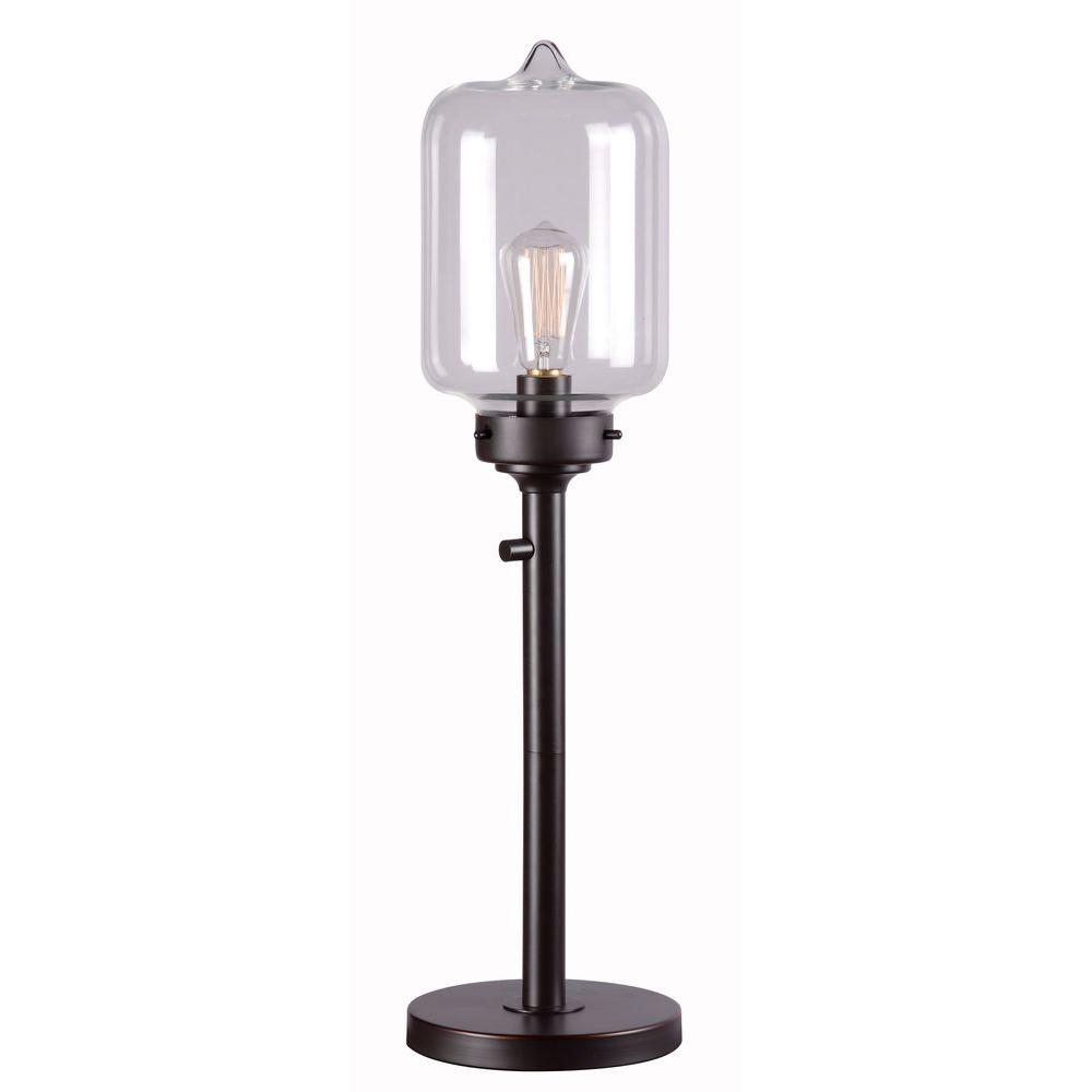 Casey 28 in. Oil-Rubbed Bronze Table Lamp