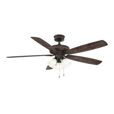 Wellton 60 in LED Espresso Bronze DC Motor Ceiling Fan with Light