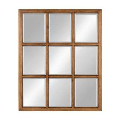 Hogan 9 Windowpane Wood Wall Mirror Other Natural