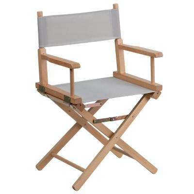 Standard Height Directors Gray Chair