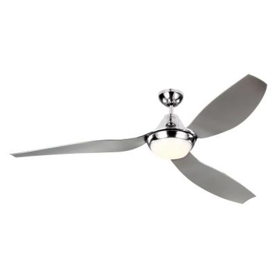 Avvo Max 64 in. Indoor/Outdoor Chrome Ceiling Fan with LED Light and 6-Speed Remote Control with DC Motor and ABS Blades