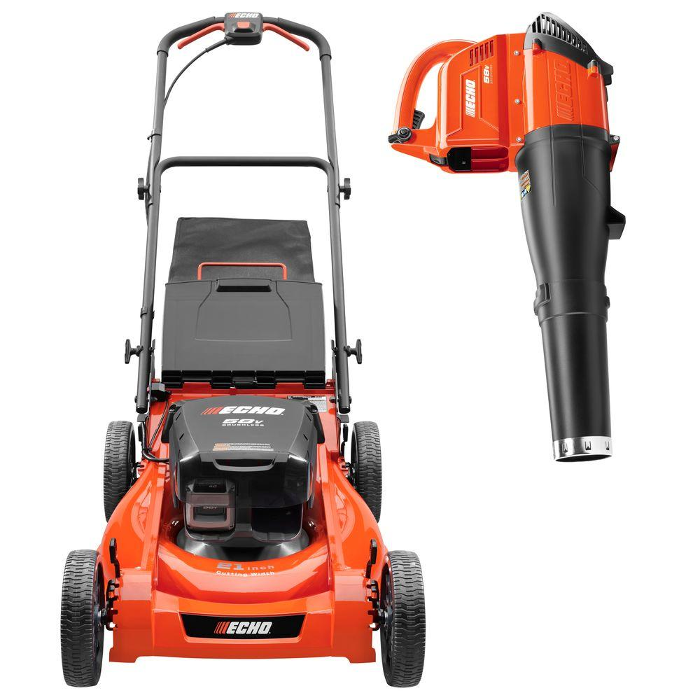 21 in. 58-Volt Lithium-Ion Cordless Lawn Mower with Blower Combo Kit
