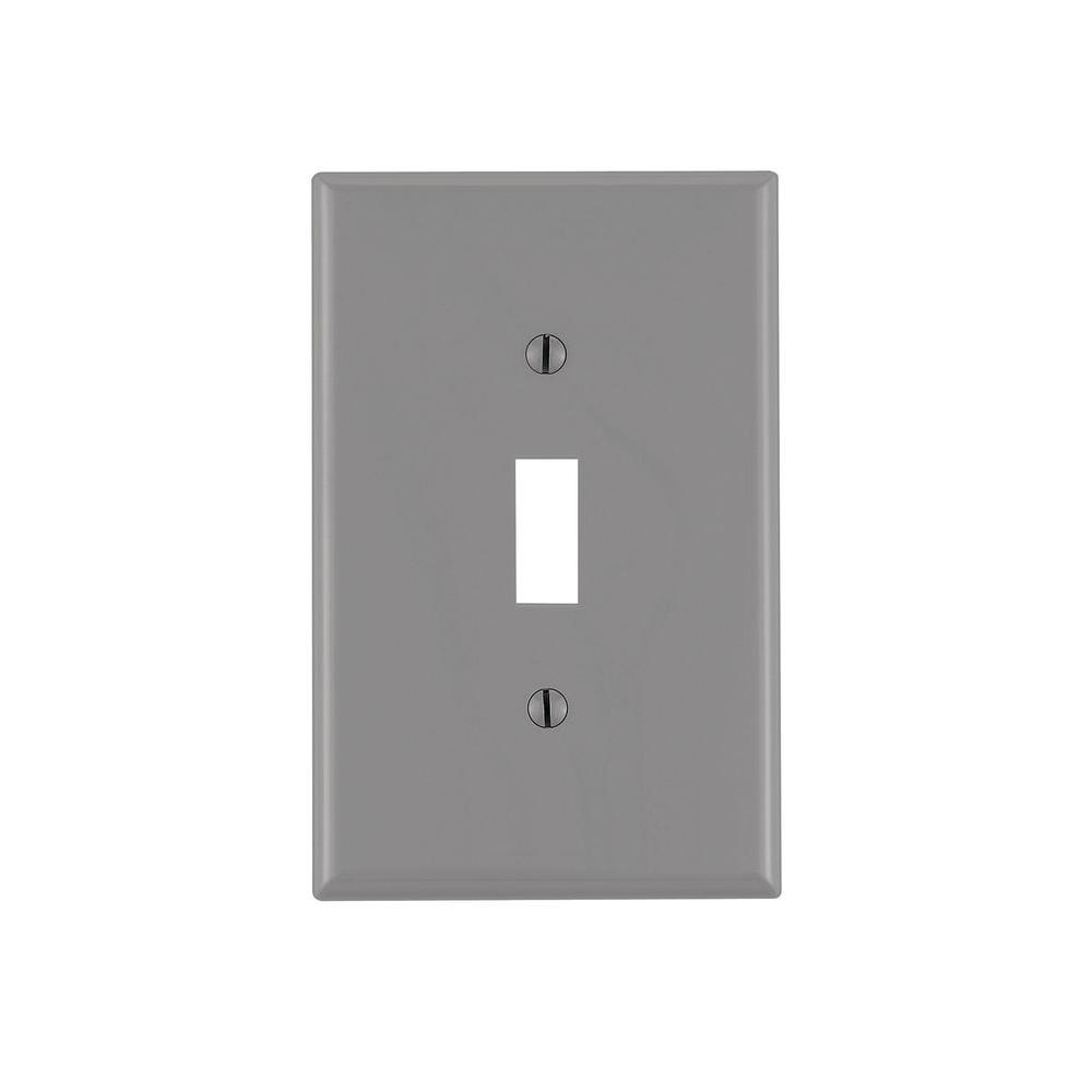 1-Gang Midway Toggle Nylon Wall Plate, Gray