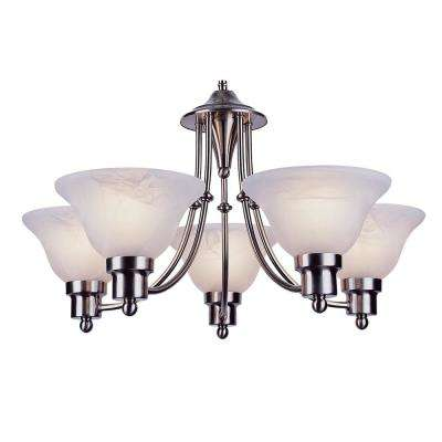 Stewart 5-Light Brushed Nickel Incandescent Ceiling Chandelier