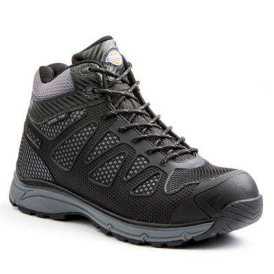 Fury Mid Men Size 11 Black/Gray Rubber/Mesh Safety Work Boot