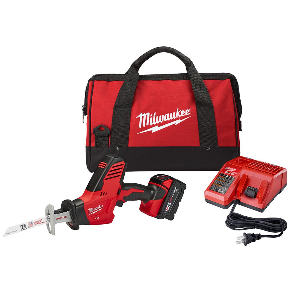 M18 18-Volt Lithium-Ion Cordless Hackzall Reciprocating Saw Kit w/(1) 3.0Ah