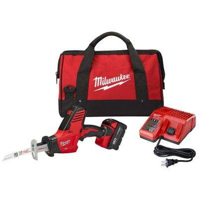 M18 18-Volt Lithium-Ion Cordless Hackzall Reciprocating Saw Kit w/(1) 3.0Ah Battery, Charger and Tool Bag