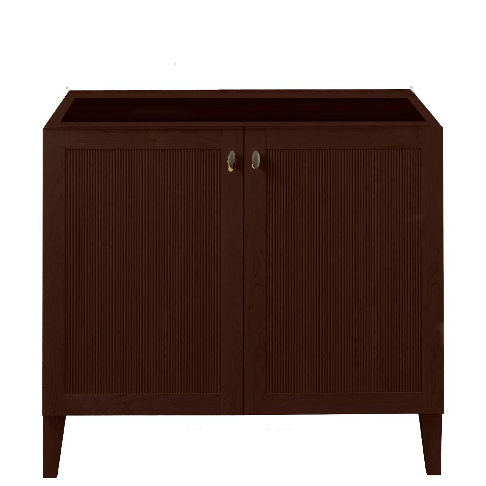 Porcher Archive 36 in. Vanity Cabinet Only in Java-DISCONTINUED