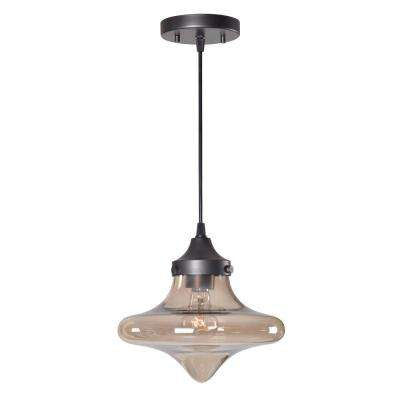 Rain Drop 1-Light Bronze Mini Pendant