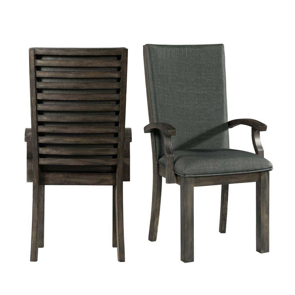 Montego Dark Walnut Arm Chairs (Set of 2)