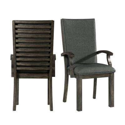 Montego Dark Walnut Arm Chairs (Set of 2)