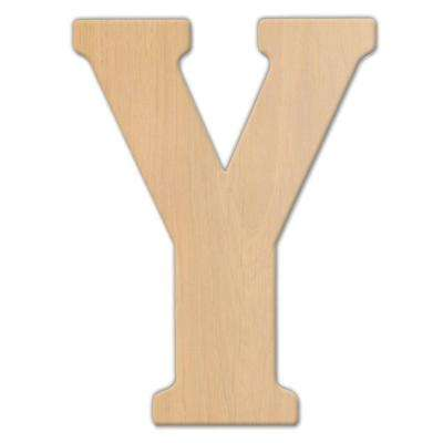 23 in. Oversized Unfinished Wood Letter (Y)