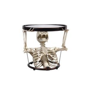 HomeDepot.com deals on 17.7 in. Halloween Oval Glass Table