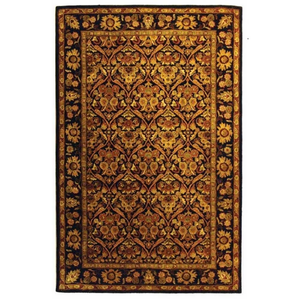 Antiquity Dark Plum/Gold 4 ft. x 6 ft. Area Rug