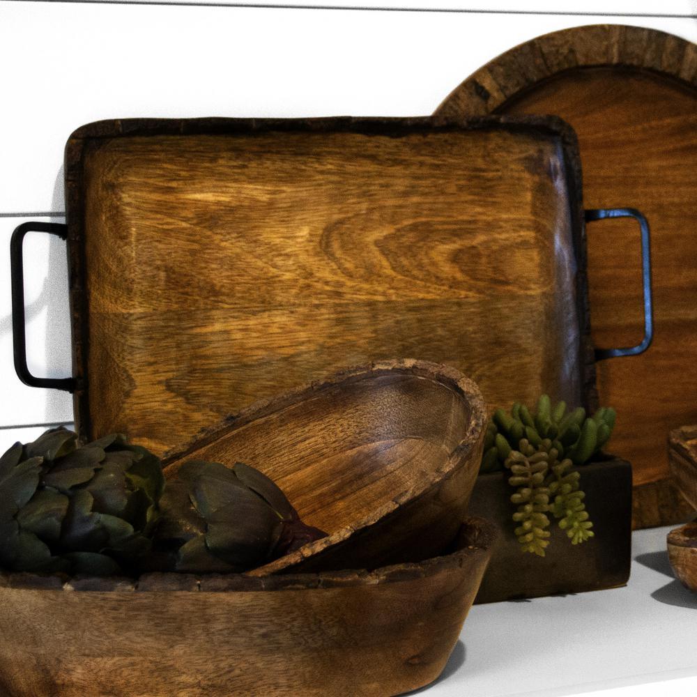 Artisan Wood - Bark Natural Decorative Tray