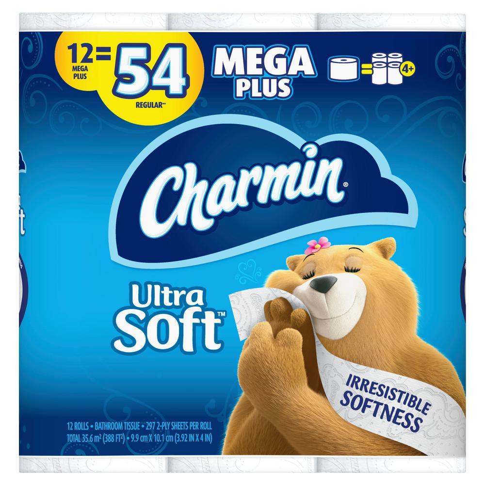 Ultra-Soft Toilet Paper (12-Mega Plus Rolls)