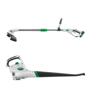 SYNC 20-Volt Lithium-Ion Cordless Outdoor Combo Kit (2-Tool) - 2.0 Ah Battery and Charger Included