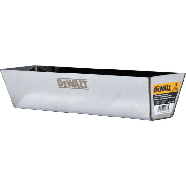 16 in. Stainless Steel Mud Pan with Curved Bottom