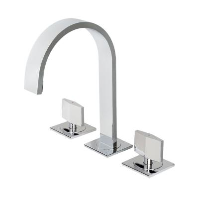 Widespread 2-Handle Contemporary Bathroom Vanity Sink Lavatory Faucet cUPC NSF AB 1953 Lead Free in Chrome