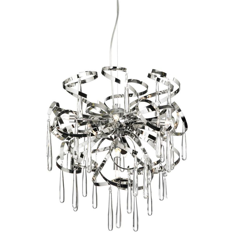 Filament Design Catherine 8 Light Halogen Polished Chrome Chandelier