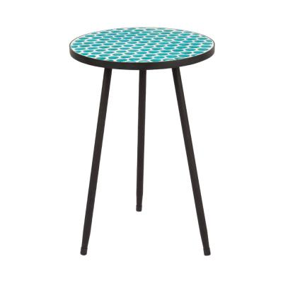Azul Mosaic Metal Outdoor Side Table