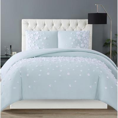 Siriano Confetti Flowers 3, Pink Grey And Mint Bedding