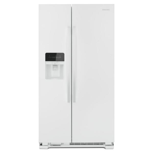24.6 cu. ft. Side by Side Refrigerator with Dual Pad External Ice and Water Dispenser in White