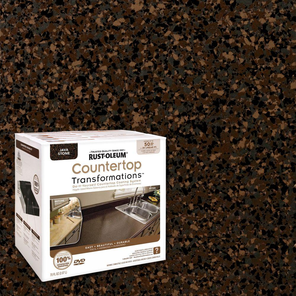 Rust Oleum Transformations 70 Oz Java Stone Large Countertop Kit