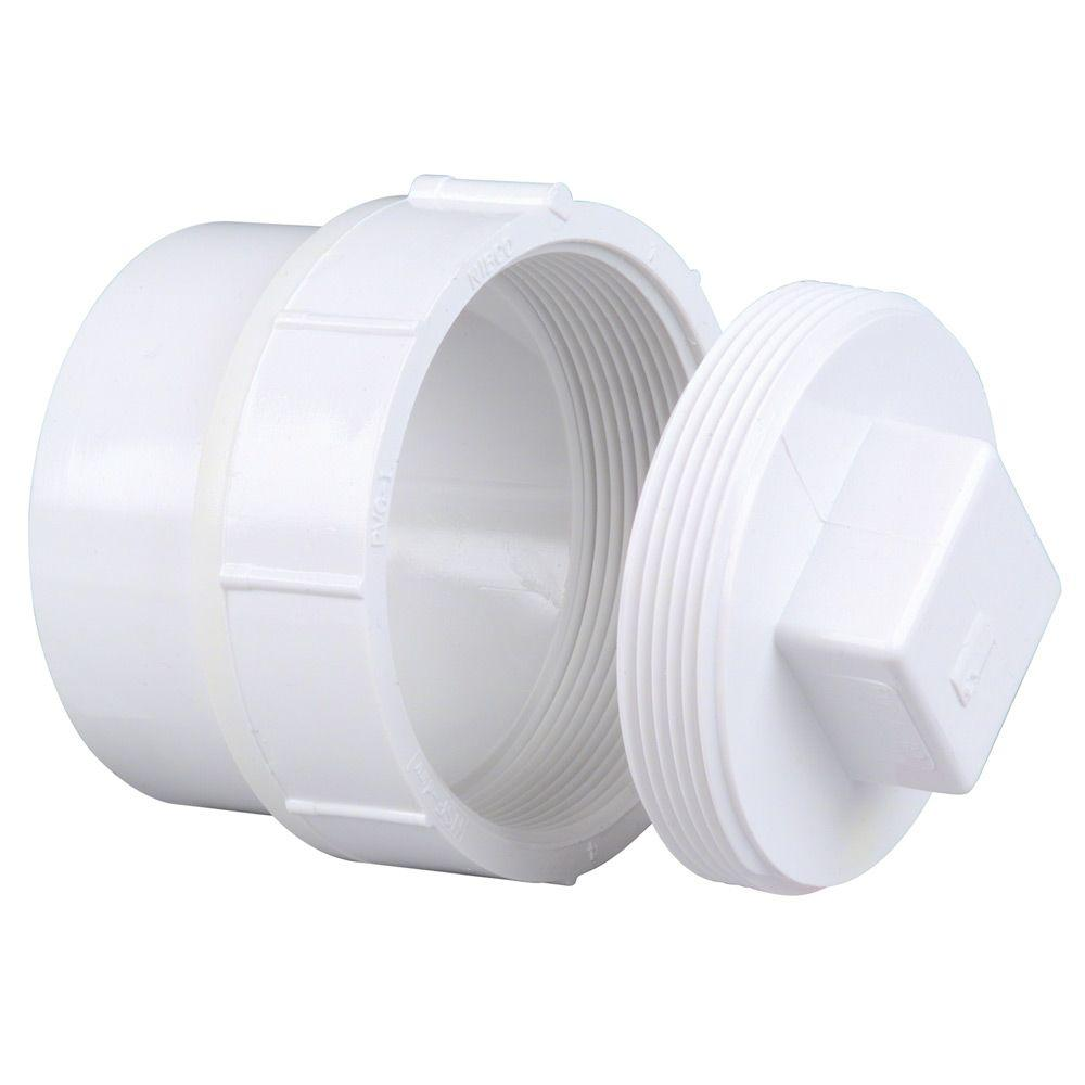 NIBCO 2 in. PVC DWV Spigot x Cleanout Adaptor with Plug