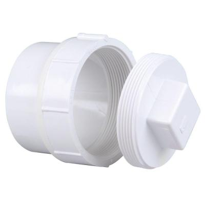 3 in. PVC DWV Spigot x Cleanout Adaptor with Plug