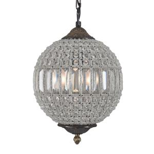 Yosemite Home Decor Collins Collection 1-Light Antique Black Chandelier with Crystal Shade by Yosemite Home Decor