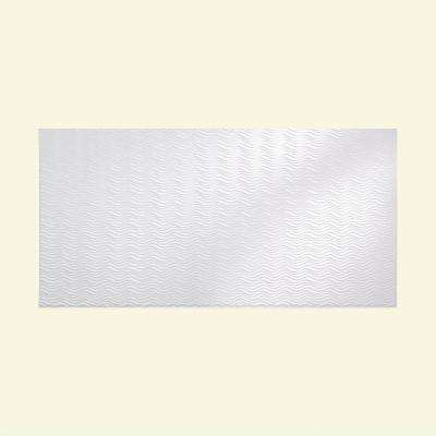 Current Horizontal 96 in. x 48 in. Decorative Wall Panel in Gloss White