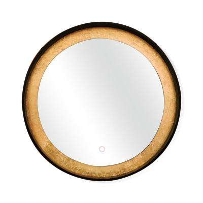 Apollo Circle 32 in. x 32 in. Framed LED Wall Mounted Backlit Vanity Bathroom Mirror with Touch On/Off Dimmer