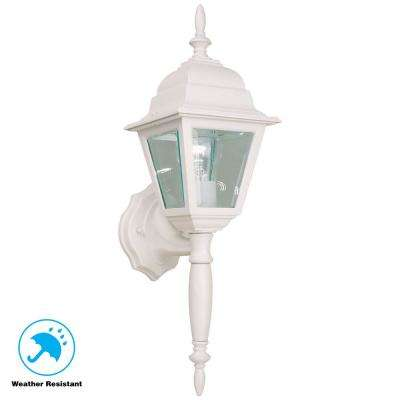 White Outdoor Wall Lantern