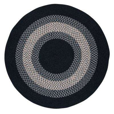 Chancery Navy 4 ft. x 4 ft. Round Braided Area Rug