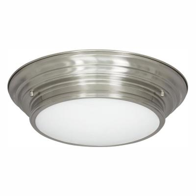 15.25 in. Boundless Collection 17-Watt Brushed Nickel Integrated LED Flush Mount
